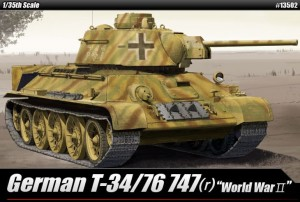 German T-34/76 747 (r ), Academy 13502