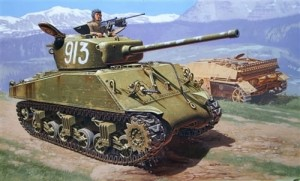 "M4A2 76mm ""Wet"" Sherman, Italeri 6483"