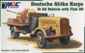Deutsche Afrika Korps 3t AA Vehicle with Flak 38, Mac 72067