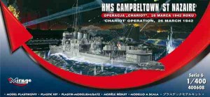 HMS Cambeltown St. Nazaire - operacja Chariot, Mirage Hobby 400608