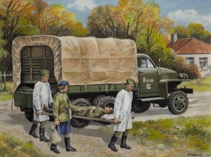 Studebaker US6 with Soviet Medical Personnel, ICM 35513