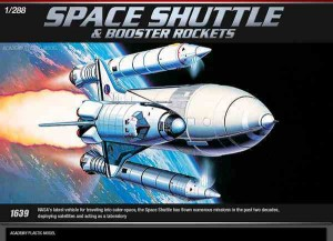 Space Shuttle w/Booster Rockets, Academy 12707