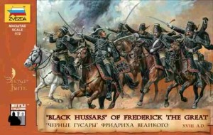 Black Hussars of Frederick The Grat - XVIII a.d., Zvezda 8079