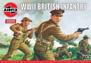 WWII British Infantry N. Europe - Vintage Classics, Airfix 00763v
