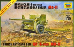 British Anti-tank gun 6lb Mk.II (limited edition), Zvezda 3518