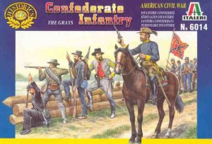 Confederate Infantry -The Grays - American civil war, Italeri 6014