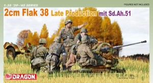 2cm FlaK 38 Late Production mit Sd.Ah.51, Dragon 6546