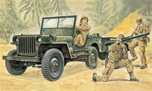 Willys MB Jeep with Trailer, Italeri 0314