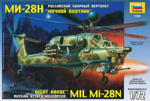 Mil Mi-28N Night Havoc Modern Russian Attack Helicopter, Zvezda 7255