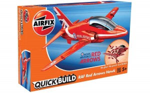 QUICK BUILD - RAF Red Arrows Hawk, Airfix J6018 powystawowy