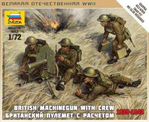 WWII British Machinegun With Crew 1939-1943, Zvezda 6167